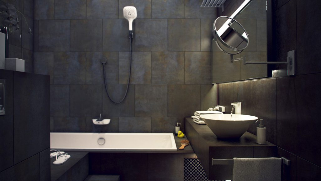 industrial chic, bathroom